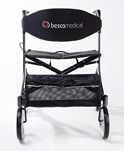 bescomedical Spring XL Leichtgewichtrollator mit Federung, Modell S Graphitgrau