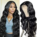 Brazilian Middle Part Lace Front Wig Human Hair 100% Real Remy Hair Wig For Black Women Deep Wave Long Black Deep Curly Wigs 20 inch