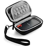 Caseling Hard Case for SanDisk 250GB 500GB 1TB 2TB Extreme Portable SSD Carrying Travel Bag (Will not fit Sandisk Pro)