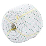 Giantex 3/7' Durable Braid Polyester Rope, 150 ft Heavy Duty Rope for Tie, Pull, Swing, Climb and Knot, High Strength Arborist Rope w/ 5953 lbs Breaking Strength, White