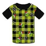 Naughty Gr-inch niños camiseta, cómodo 3D gráfico camiseta niños niñas manga corta tops
