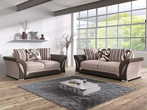 Click for more options-FARROW SHANNON CORNER LARGE SOFA 3 2 1 SEATER SWIVEL CHAIR GREY BLACK BEIGE BROWN (BEIGE/BROWN, 3 SEATER)