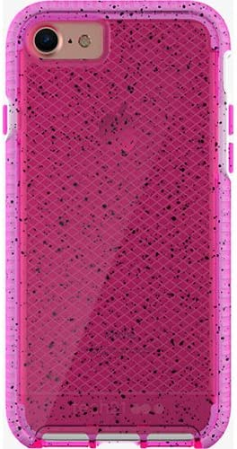 new arrival Tech21 Evo Check Active Edition Protection Case for iPhone 7, iPhone 6, popular iPhone 6S wholesale - Pink/White with Black Spots online sale