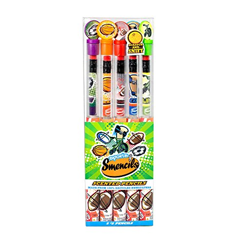 Scentco Sports Smencils - HB #2 Scented Pencils, 5 Count