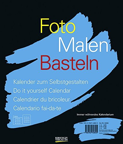 Foto, Malen, Basteln schwarz: Kalender zum Selbstgestalten