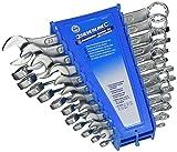 Silverline 633470 - Llaves combinadas, 22 pzas (6 - 22 mm y 1/4 - 7/8')