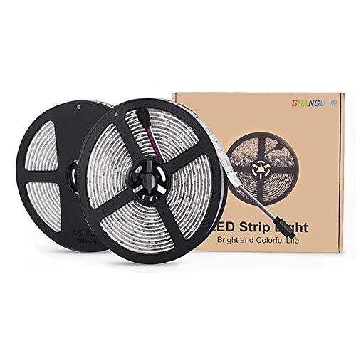 LED Strip Licht (5m/10m) RGB SMD 5050 LED Touw Verlichting Bluetooth Kleur Veranderende Volledige Kit Met Sleutels IR Afstandsbediening Strips Voor Keuken Kerstversiering [Energie Klasse A+++]