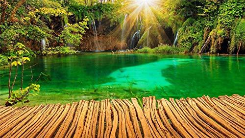 ASDEWQ Jigsaws Puzzle,Rompecabezas Croacia Parques Lago Cascada Naturaleza Jardín Puzzles De Madera De Bricolaje 500 Piezas, Rompecabezas para Niños Adultos Juego De Juguetes (52 * 38 Cm)