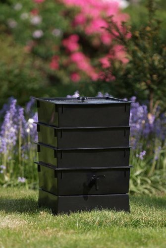 Great Deal! Worm Factory DS4BT 4-Tray Worm Composter, Black