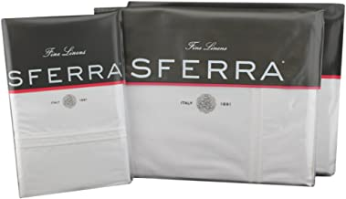 Sferra Grande Hotel Sheet Set (White/White, Twin (with X-Long Fitted) Sheet Set)