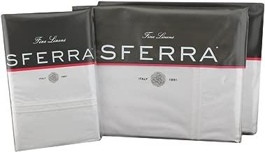 Sferra Grande Hotel Sheet Set (White/White, Full Sheet Set)