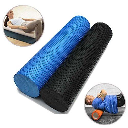 Bluelover 60X 14.5 Cm Eva Yoga Pilates Inicio Gimnasio Espuma Rodillo Masaje Punto De Disparo - Negro