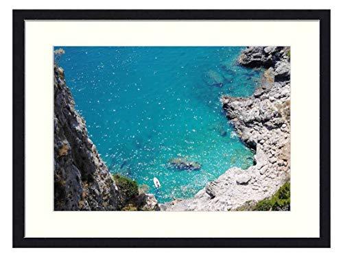 OiArt Wall Art Print Wood Framed Home Decor Picture Artwork(24x16 inch) - Capri Italy Beach