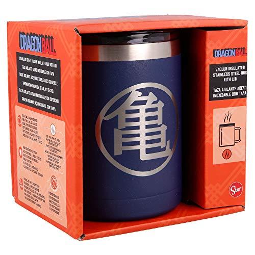 DRAGON BALL | Taza termica de Acero Inoxidable - 380 ml - Taza termo cafe para llevar | Termo Reutilizable para Bebidas Frías/Calientes Con aislamiento al vacío de doble pared y tapa sin BPA