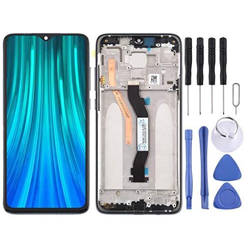 ZHUHAI vervangende display LCD-scherm en Digitizer volledige montage met frame voor Xiaomi Redmi Note 8 Pro (zwart) scherm vervangende kit + volledige reparatie gereedschap, Zwart