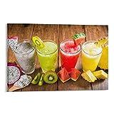 Znimo Poster mit natürlichem Fruchtsaft, Getränk, gesunde