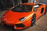 Zopix Wandposter Lamborghini Aventador Auto Orange