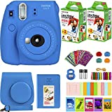 FujiFilm Instax Mini 9 Instant Camera + Fujifilm Instax Mini Film (40 Sheets) Bundle with Deals Number One Accessories Including Carrying Case, Color Filters, Kids Photo Album + More (Cobalt Blue)