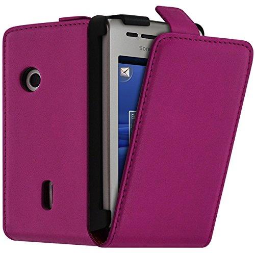 Seluxion - Funda tipo libro para Sony Ericsson Xperia X8, color rosa