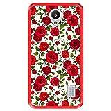 Funda Roja para [ Huawei Y635 ] diseño [ Patrón con Rosas Rojas ] Carcasa Silicona Flexible TPU
