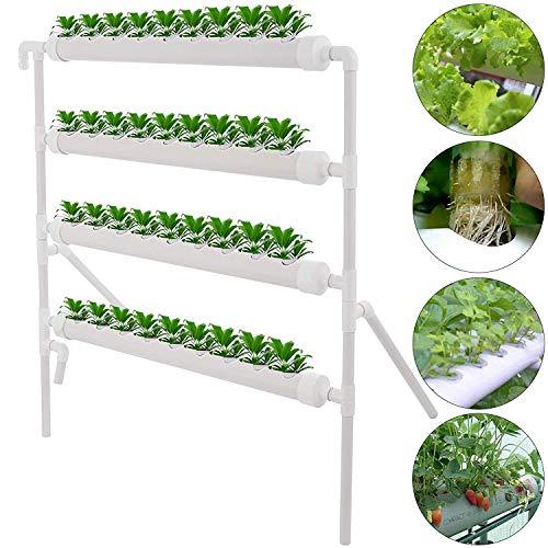 TOPQSC 4 Capas de 36 Sitios de Plantas Kit de Cultivo De Sitio Hidropónico Sistema de Cultivo Hidropónico Cultivo de Agua Sistema de Plantas de Jardín para Casa Balcón Jardín