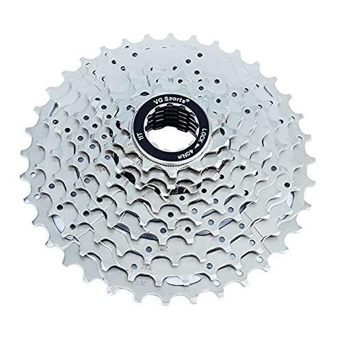 9 índice de Velocidad 11-36T Cassette Freewheel-MTB Níquel Cromo de Plata Pieza de Bicicleta Sprocket, Adecuada para Shimano/Cassette Bicicleta Freewheel