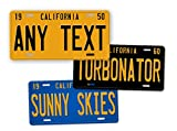 make your own license plate - Antique Retro California State Auto Tag Official 1950s 1960s 1970s Vintage Replica CA License Plate Any Text! Personalized Sign