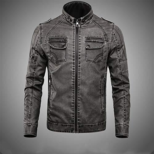 MDLJY Jacke Herren Lederjacke Herbst Winter Casual Solid Streetwear Herren Baseball Jacken Hip Hop Mantel Männlich