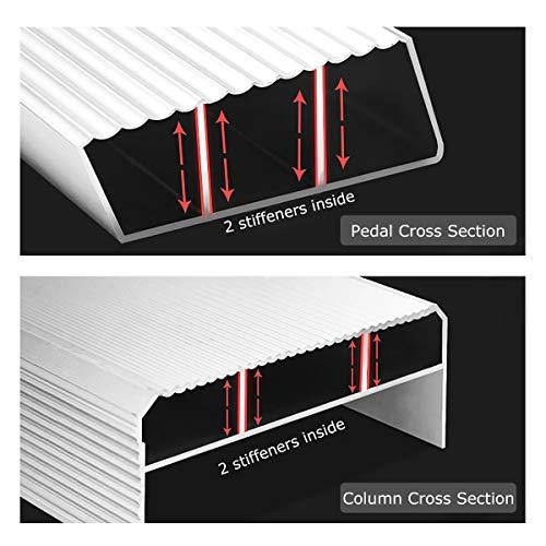 Goplus 4 Ft Fiberglass Step Ladder, Folding 3 Step Pro Platform Ladder Tool Equipment w/ Tool Tray