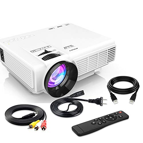 """[Latest Upgrade] 4500Lumens Mini Projector, Full HD 1080P 170"""" Display Supported, PS4,TV Stick, Smartphone, USB, SD Card Supported, Great for Home Theater Movies"""