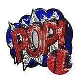 PMSMT 24x19 cm Punk Pop Parches Lentejuelas Hierro en Bordado Apliques Emblema Parche Pegatinas para Ropa Accesorios de Ropa de Bricolaje