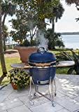 Lonestar Chef SCS-K22B Lifesmart Lonestar Series 22' Kamado Value Bundle Charcoal Ceramic Grill and...