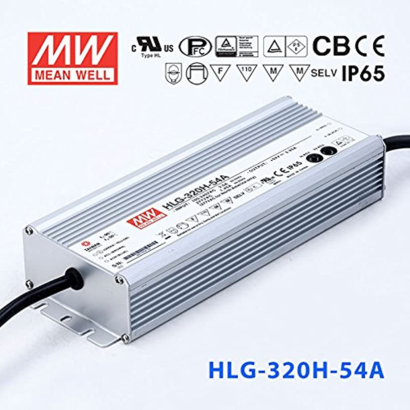 Meanwell HLG-320H-54A Power Supply - 320W 54V 5.95A - IP65 - Adjustable Output