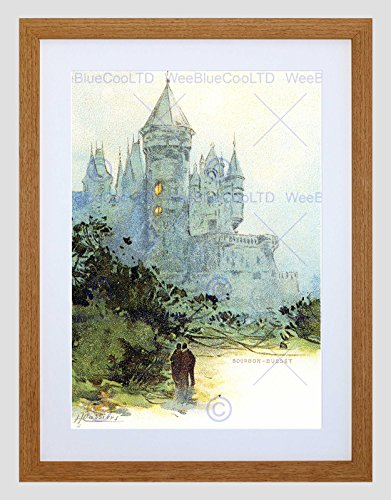 Wee Blue Coo Schilderij Ansichtkaart Chateau De Busset Henri Cassiers Frankrijk Omlijst Muur Art Print