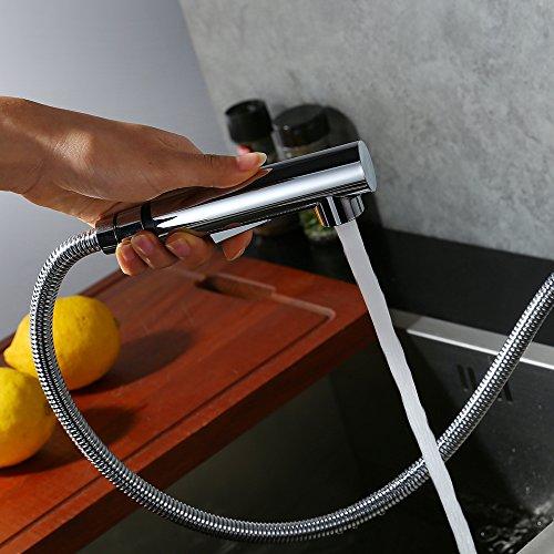 Homelody Verchromt Armatur Spüle Wasserhahn Brause Küchenarmatur ausziehbar Küche Mischbatterie Armaturen Spültisch Spültischarmatur - 3