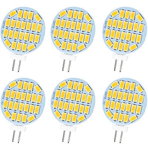 Jenyolon G4 LED neutralweiß Lampen 3W AC/DC 12V, 4000K, 400Lm, Ersatz für 30W Halogenlampen Glühlampen, LED G4 klein Stiftsockellampe Leuchtmittel Birne Licht, 120°Abstrahlwinkel, 6er Pack