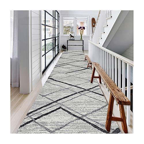 Siunwdiy Corredor Alfombra Tradicional Hall Corredor Alfombra, Ancho 60 cm / 80cm / 100cm / 120cm, Antideslizante Carpet Decor Bedroom Stail Stails,60x250cm