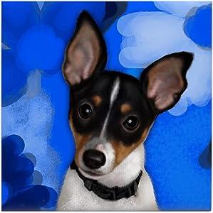 CafePress Rat Terrier Dog Tile Coaster, Drink Coaster, Small Trivet