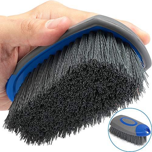 Relentless Drive Upholstery Brush Works as Car Carpet Brush and Leather Brush (2 in 1) - Stain & Hair Remover, Car Detailing Brush for Cars, Trucks & SUVs Interior Carpet, Leather & Vinyl Seats