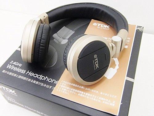 TDK プレミアム ワイヤレス ステレオ ヘッドフォン JN-WH140CG/シャンパン ゴールド