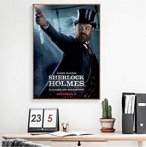 taoyuemaoyi Vintage Poster Sherlock Holmes Un Juego De Sombras Lienzo De Pared Fotos Películas Cartel para La Sala De Estar Mejoras para El Hogar 40 * 60 Cm: Amazon.es: Hogar