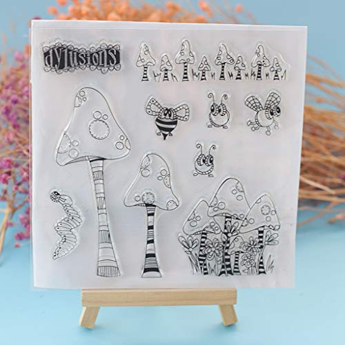 Kwan Crafts Daily Life Girl Yoga Sing Work Out Eat Clear Stamps para hacer tarjetas decoraci/ón y DIY Scrapbooking