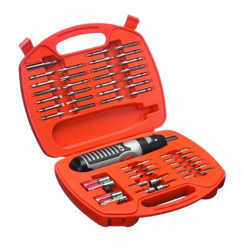 Black+Decker Batteriebetriebenes Schrauber-Set (54-tlg., PH1/2/3, PZ1/2/3, SL4/6/7,2, TX15/20/25/30, H3/4) A7071
