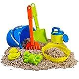 7 pc Kids Beach Toys Set, Beach Toy Sand Set for Kids, Sand Play Set with Bucket, Shovels, Rakes, Models and Molds. Sandbox Toy, Sand Toya 7Pcs