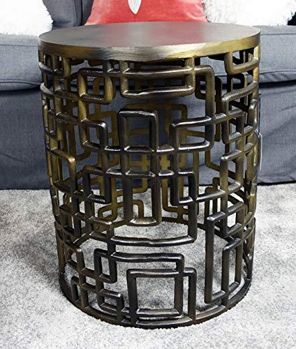MichaelNoll Couchtisch Wohnzimmertisch Sofatisch Beistelltisch Tisch Eisen Bronze 48 cm