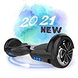 Hoverboard, 6.5 inch Self Balancing Scooter Hoverboard with Bluetooth Speaker Hoverboards for Kids Age 8-12 Segway Colorful Flashed LED Wheel Best gifts for kids Boys Girls Gifts Hoverboard go Kart - Best Reviews Guide