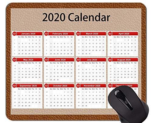 Alfombrillas de ratón 2020 Galaxy Calendar Personalizadas, Alfombrilla de ratón de Goma con Temas de Cuero Abstracto