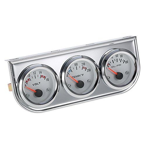 3 in 1 Car Meter Auto Gauge(Voltmeter + Water Gauge + Oil Press Gauge),2