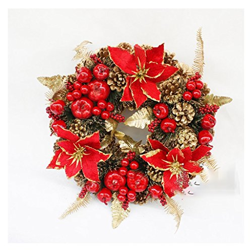 Best Price LAOHAO Christmas Decoration 30CM, 40CM, 50CM Exquisite Red Decorative Garland Christmas T...