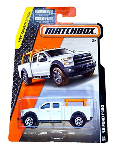 Matchbox 2015 15 White Ford F-150 Utility 4 Door Contractors Truck by